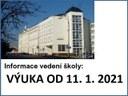 Informace k výuce od 11. 1. 2021