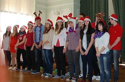 Školní vánoční besídka v aule